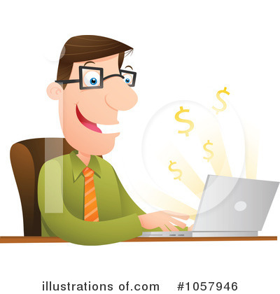 Businessman Clipart #1057946 by Qiun