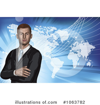 Royalty-Free (RF) Businessman Clipart Illustration by AtStockIllustration - Stock Sample #1063782