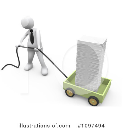 Royalty-Free (RF) Businessman Clipart Illustration by 3poD - Stock Sample #1097494