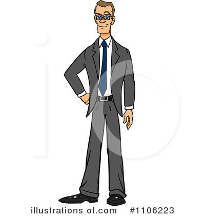 Businessman Clipart #1106223 by Cartoon Solutions