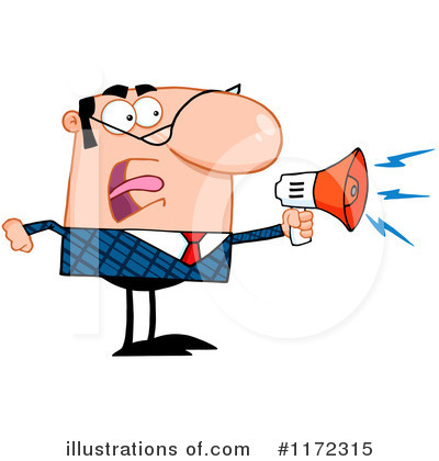 Megaphone Clipart #1172315 by Hit Toon