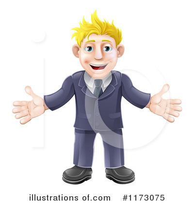 Business Man Clipart #1173075 by AtStockIllustration