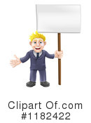 Royalty-Free (RF) businessman Clipart Illustration #1182422