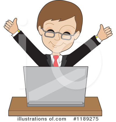 Royalty-Free (RF) Businessman Clipart Illustration by Maria Bell - Stock Sample #1189275