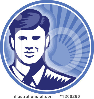 Royalty-Free (RF) Businessman Clipart Illustration by patrimonio - Stock Sample #1206296