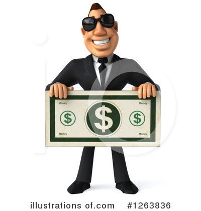 White Businessman Clipart #1263836 by Julos