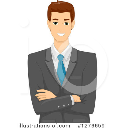 Business Man Clipart #1276659 by BNP Design Studio