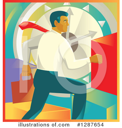 Business Man Clipart #1287654 by patrimonio