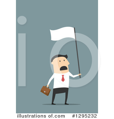 White Flag Clipart #1295232 by Vector Tradition SM