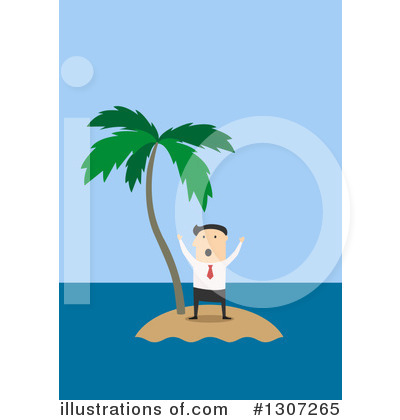 Castaway Clipart #1307265 by Vector Tradition SM
