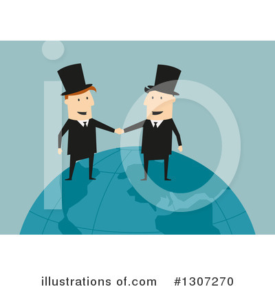 Handshake Clipart #1307270 by Vector Tradition SM