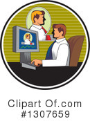 Royalty-Free (RF) Businessman Clipart Illustration #1307659