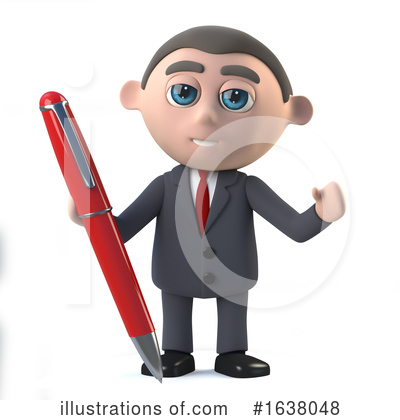 Businessman Clipart #1638048 by Steve Young