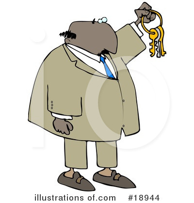 Royalty-Free (RF) Businessman Clipart Illustration by djart - Stock Sample #18944