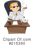 Royalty-Free (RF) businessman Clipart Illustration #215390