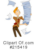 Royalty-Free (RF) businessman Clipart Illustration #215419