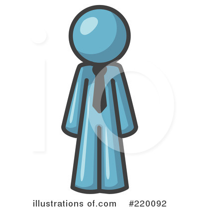 Blue Man Clipart #220092 by Leo Blanchette