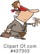 Royalty-Free (RF) businessman Clipart Illustration #437303