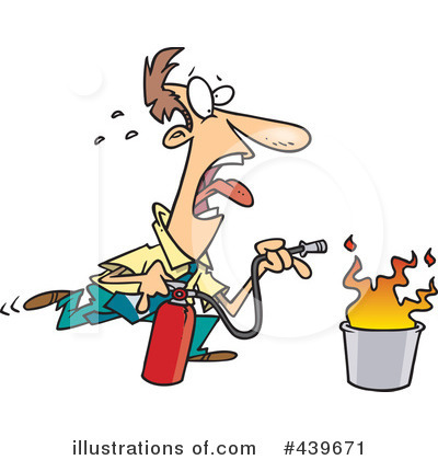 Fire Extinguisher Clipart #439671 by toonaday