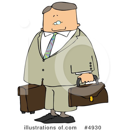 Royalty-Free (RF) Businessman Clipart Illustration by Dennis Cox - Stock Sample #4930