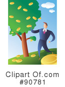 Royalty-Free (RF) Businessman Clipart Illustration #90781