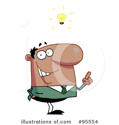 Black Businessman Clipart #95554 by Hit Toon