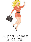 Royalty-Free (RF) businesswoman Clipart Illustration #1054781