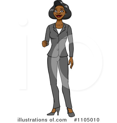 Businesswoman Clipart #1105010 by Cartoon Solutions