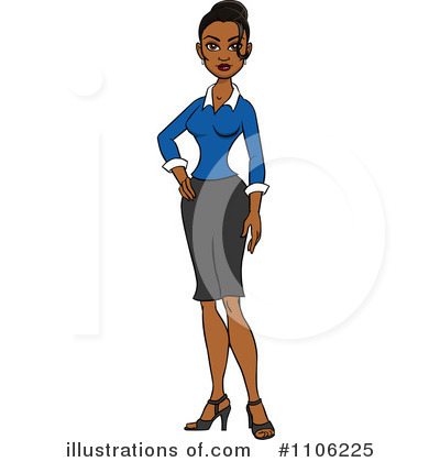 Businesswoman Clipart #1106225 by Cartoon Solutions