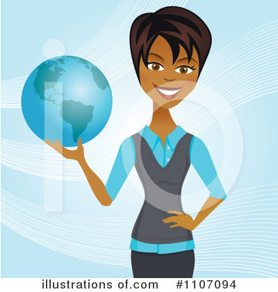 Businesswoman Clipart #1107094 by Amanda Kate