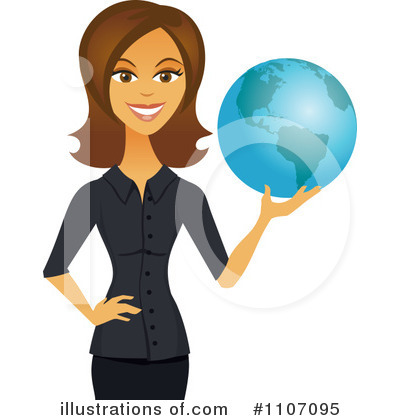 Businesswoman Clipart #1107095 by Amanda Kate