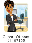 Businesswoman Clipart #1107105 by Amanda Kate