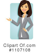 Royalty-Free (RF) Businesswoman Clipart Illustration #1107108