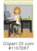 Royalty-Free (RF) businesswoman Clipart Illustration #1107267