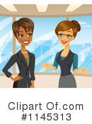 Royalty-Free (RF) businesswoman Clipart Illustration #1145313