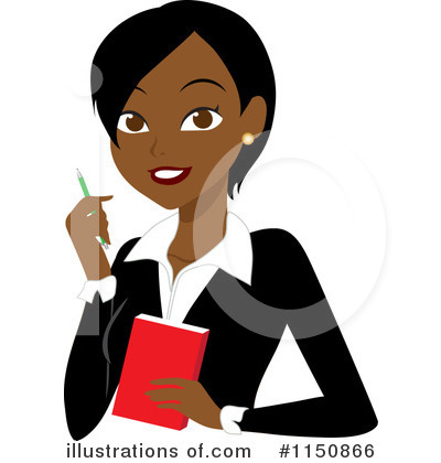 Black Woman Clipart #1150866 by Rosie Piter