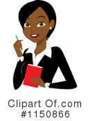 Royalty-Free (RF) Businesswoman Clipart Illustration #1150866