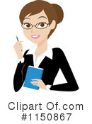 Businesswoman Clipart #1150867 by Rosie Piter