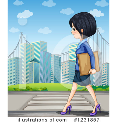 Asian Businesswoman Clipart #1231857 by Graphics RF