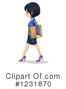 Royalty-Free (RF) Businesswoman Clipart Illustration #1231870