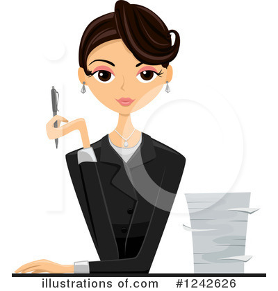 Royalty-Free (RF) Businesswoman Clipart Illustration by BNP Design Studio - Stock Sample #1242626