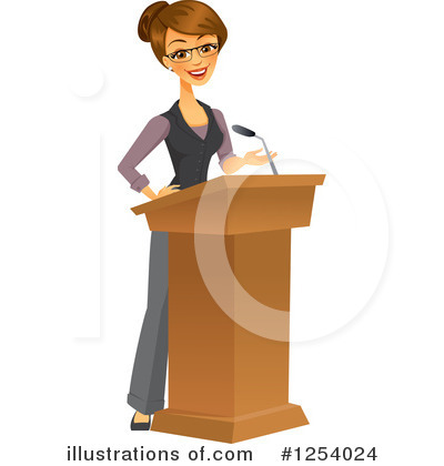 Businesswoman Clipart #1254024 by Amanda Kate