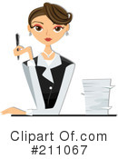 Royalty-Free (RF) Businesswoman Clipart Illustration #211067