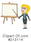 Royalty-Free (RF) businesswoman Clipart Illustration #213114