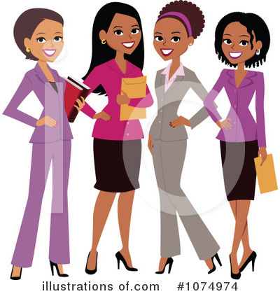 Black Woman Clipart #1074974 by Monica