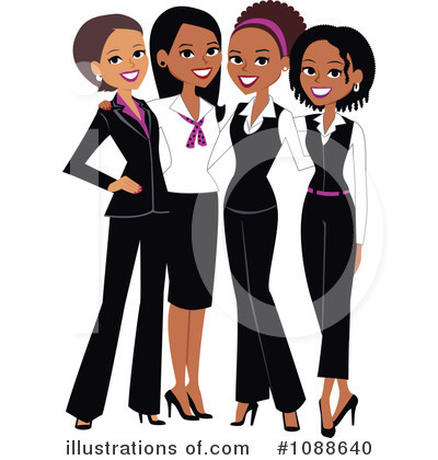 Black Woman Clipart #1088640 by Monica