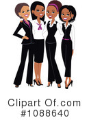 Royalty-Free (RF) Businesswomen Clipart Illustration #1088640