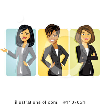 Business Team Clipart #1107054 by Amanda Kate