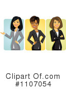 Royalty-Free (RF) businesswomen Clipart Illustration #1107054