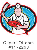 Royalty-Free (RF) Butcher Clipart Illustration #1172298